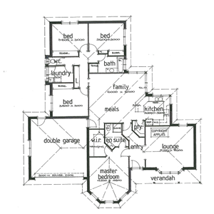 PLAN 1 | 4 Bed | 2 Bath | 20.00 SQ