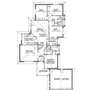 PLAN 3 | 4 Bed | 2 Bath | 19.00 SQ