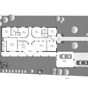 PLAN 5 | 3 Bed | 2 Bath | 23.2 SQ