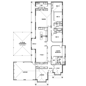 PLAN 9 | 4 Bed | 2 Bath | 30.8 SQ