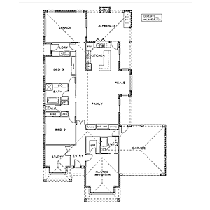 PLAN 11 | 3 Bed | 2 Bath | 24.11 SQ