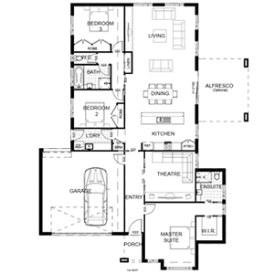 PLAN 15 | 3 Bed | 2 Bath | 27.17 SQ