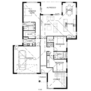 PLAN 16 | 3 Bed | 2 Bath | 26.61 SQ